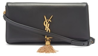 Saint Laurent Kate Tasselled Leather Cross-body Bag - Dark Green