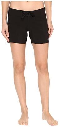 Volcom Simply Solid 5 Boardshorts (Black) Women's Swimwear