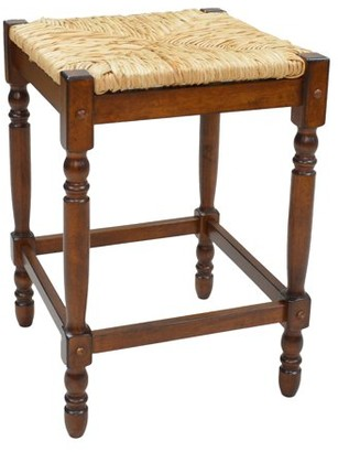 Carolina Cottage Carolina Chair and Table Chestnut Rush Seat Counter Stool