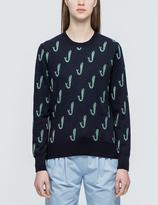 MAISON KITSUNÉ Jacquard Fish Pullover