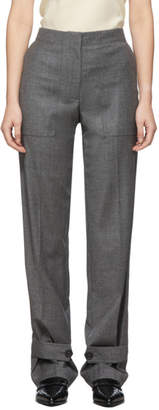 Helmut Lang Grey Wool Flannel Military Trousers