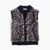 J.Crew Girls' leopard faux-fur vest
