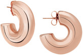 Janis Savitt Oprah's Favorite High Polish Small Hoop Earrings - Rose Gold