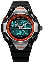 Fanmis Children Boys Girls Digital Analog LED Quartz Alarm Date Waterproof Sports Wrist Watch