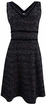 Nanette Lepore Nanette Women's Sleeveless V-Neck Boucle Fit & Flare Dress with Self Fringe