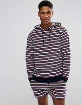 Asos Hoodie With Toweling Retro Stripe