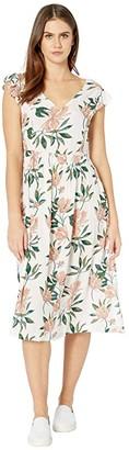 Roxy Rush Minute Dress (Snow White Tropical Day) Women's Clothing
