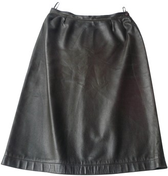 Saint Laurent Brown Leather Skirts