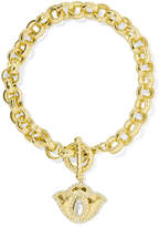 Amrapali Thamarai Lotus 18-karat Gold, Topaz And Diamond Bracelet