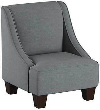 One Kings Lane Fletcher Kids' Accent Chair - Gray - frame, espresso; upholstery, gray