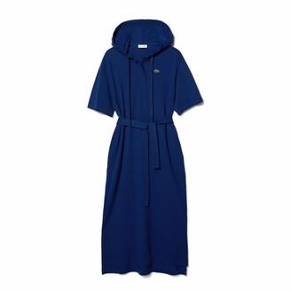 Lacoste Women's Short Sleeve Hooded Pique Polo Dress