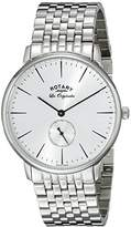 Rotary Men's gb90050/06 Analog Display Swiss Quartz Silver Watch