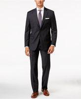Lauren Ralph Lauren Men's Classic-Fit Ultraflex Charcoal Wide Stripe Flannel Suit