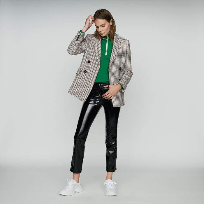 Maje Plaid wool-blend blazer