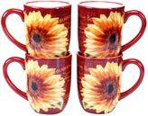 Certified International Paris Sunflower 4-pc. Mug Set