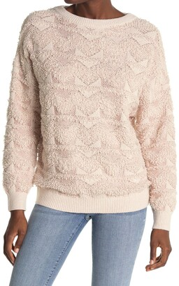 Reiss Ottilie Textured Boucle Knit Pullover Sweater