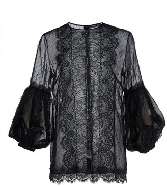Andrew Gn Chantilly Lace Top