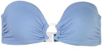 Onia Luna Jaquard print bikini top