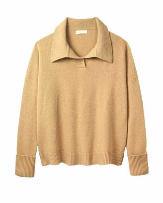 &Daughter & DAUGHTER - Quinn Collared Knit Camel - S
