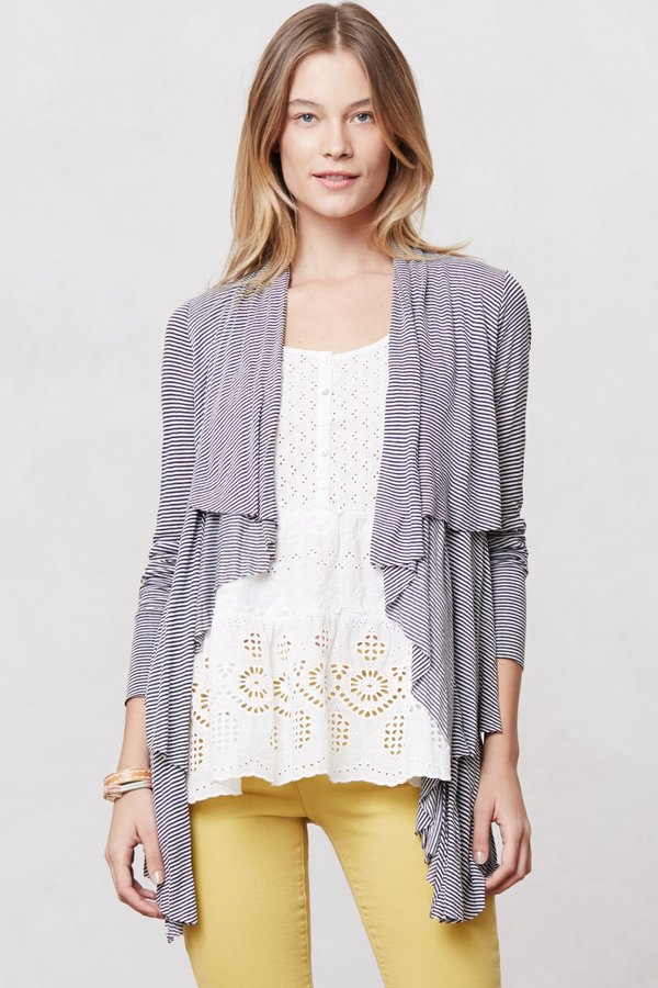 Anthropologie Tiered Waterfall Cardigan