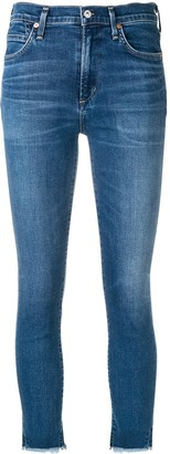 Citizens of Humanity Frayed Edges Cropped Jeans