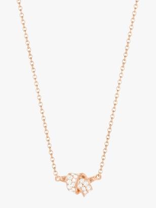 Mini Knot Pave Diamond Pendant
