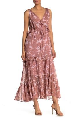 Diane von Furstenberg Misha Silk Blend Sleeveless Maxi Dress