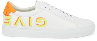 Givenchy Urban Street Letters Leather Low Top Sneakers