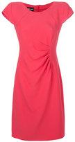 Giorgio Armani ruched dress - women - Silk/Polyester/Viscose - 42