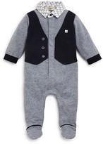 Armani Junior Armani Infant Boys' Vest Front Footie - Sizes 3-9 Months