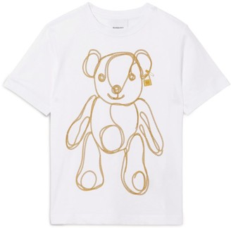 Burberry Kids Cotton Chain Bear T-Shirt (3-12 Years)