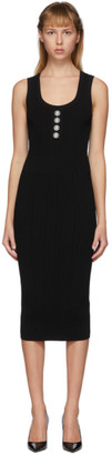 Balmain Black Rib Knit Dress