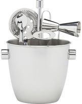 Crate & Barrel Bar Tool and Ice Bucket Set