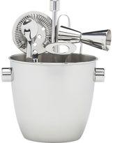 Crate & Barrel Bar Tool and Ice Bucket Set