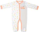 Cutie Pie Baby Gray & Orange Car Footie