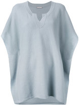 Hemisphere ribbed open neck top - women - Cashmere - M