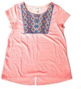 Jessica Simpson Tweens Girls' Jessica Simpson Embroidered T-Shirt With Flutter Back