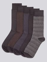 Marks and Spencer 5 Pairs of Cotton Rich FreshfeetTM Socks