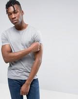 BOSS ORANGE by Hugo Boss Logo T-Shirt Slim Fit in Gray Marl