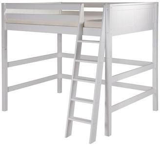 Camaflexi Full High Loft Bed, Panel Headboard, White