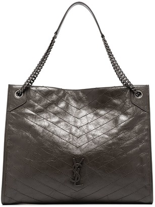 Saint Laurent Niki quilted-effect tote bag