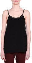 Stella McCartney Falabella Chain-Trim Tank, Black