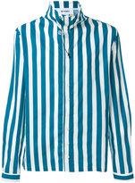 Sunnei neck toggle striped shirt