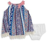 Rare Editions Baby Girls Patterned Dress and Bloomers Set