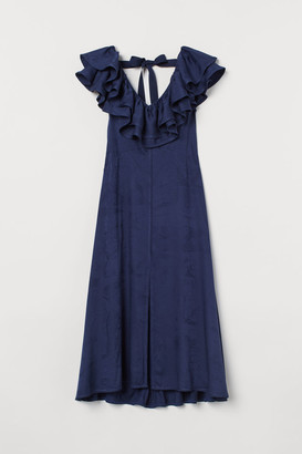 H&M Long V-neck Dress - Blue