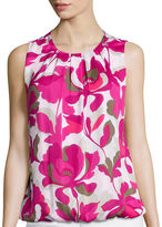 Liz Claiborne Sleeveless Front Pleat Shell Top - Tall