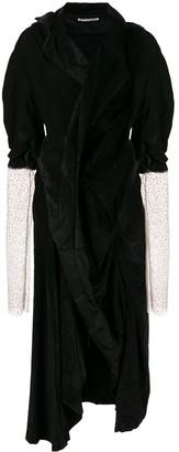 aganovich asymmetric velvet dress