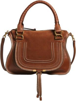 Chloé Medium Marcie Suede & Leather Shoulder Bag