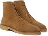 Saint Laurent - Cigar Brushed-suede Boots