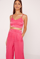 Missguided Cami Crop Top Pink